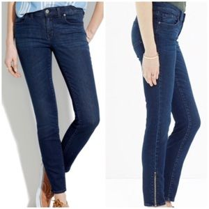 Madewell Skinny Skinny Jeans Zip Ankle